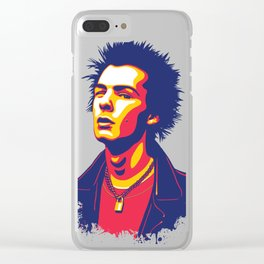 Sid Vicious Clear iPhone Case