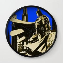 The caped crusader  Wall Clock