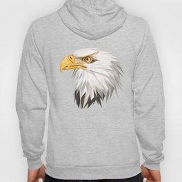 Triangular Geometric American Bald Eagle Head Hoody