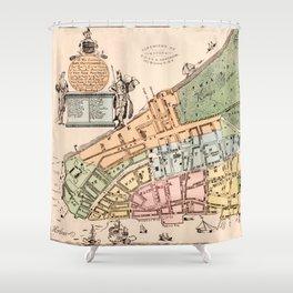 New York City 1728 Shower Curtain