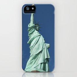 Blue Skies Behind Lady Liberty iPhone Case