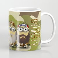 minions Mugs featuring Minions Mashup Duck Dinasty by Akyanyme