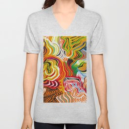 colored flow Unisex V-Neck