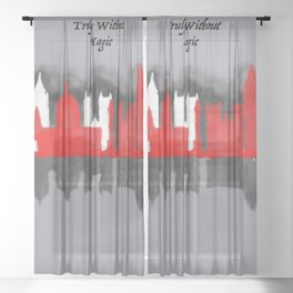 No London is Truly Without Magic - A Darker Shade of Magic Sheer Curtain
