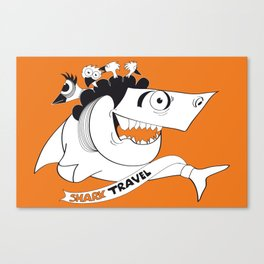 happy travel shark Canvas Print
