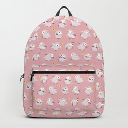 Baby Barn Owls - pink Backpack