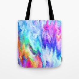 Vibrating Glitch Rainbow Tote Bag