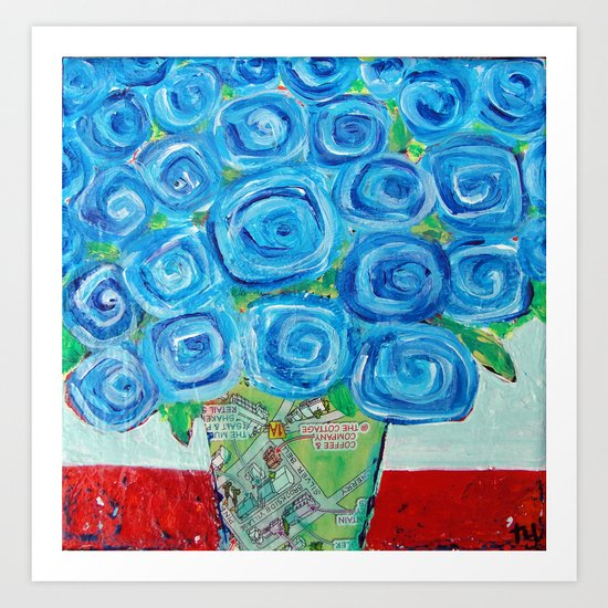 I'm Feeling Blue Art Print