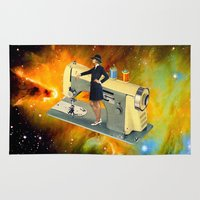 spaceship Area & Throw Rugs featuring Barbara's Spaceship by Eugenia Loli