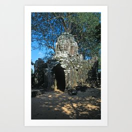 Angkor wat, Ta som temple Art Print