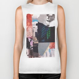 Buildings Clouds and Colors Biker Tank