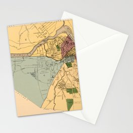 Map Of Lowell 1881 Stationery Cards