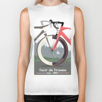 tour de france Biker Tanks featuring Tour De France Bicycle by Wyatt Design