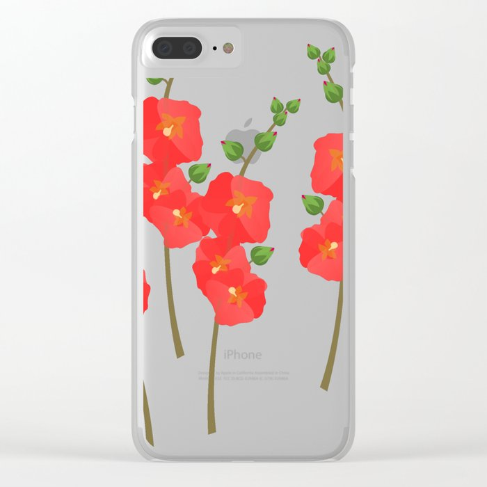 Poppin' Poppies Clear iPhone Case