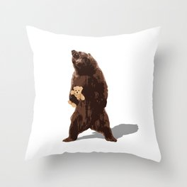 grizzlies need hugs too Throw Pillow