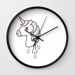 Dead Unicorn Wall Clock