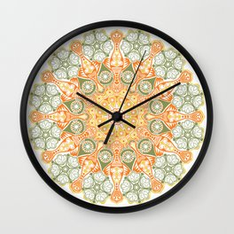 ornamental round lace pattern, Wall Clock
