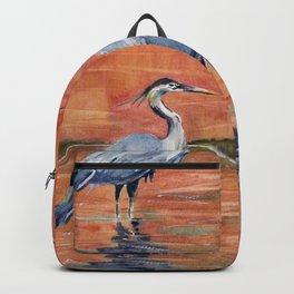Great Blue Heron in Marsh Backpack