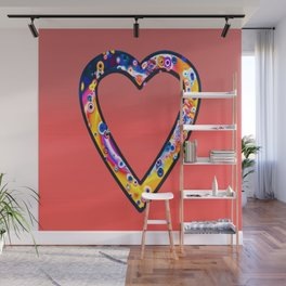 Heart in bright sunny colours Wall Mural