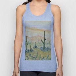Desert Sunset Landscape Unisex Tank Top