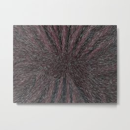 Abstract - Raven Flow. Metal Print