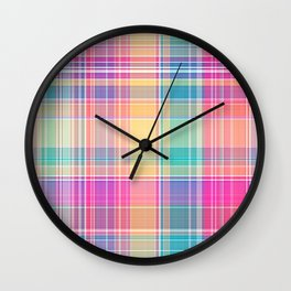 Colorful Sarong 3 Wall Clock