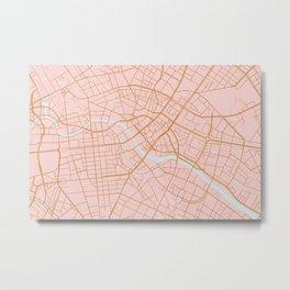 Berlin map Metal Print