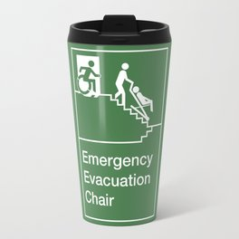 Accessible Means of Egress Icon, Emergency Evacuation Chair Sign Travel Mug