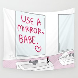 Mirror Babe Wall Tapestry