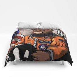 Space Bear Portait. Comforters