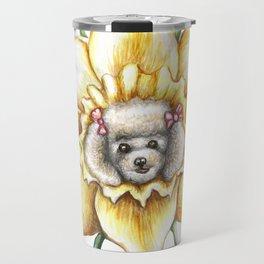 Poodle Dafodil by Nefertara Travel Mug