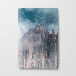 Tre Cime Digital Print, Italy, Dolomites Mountain Poster, South Tyrol Printable, Nature Landscape Metal Print