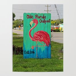 Olde Florida Outpost Poster