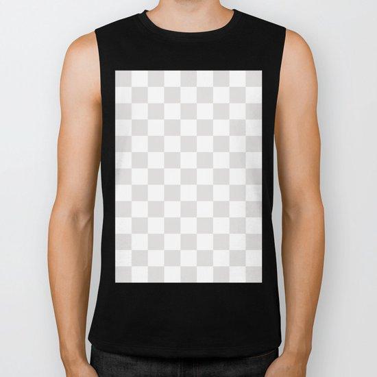Checker (Platinum/White) Biker Tank