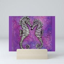 Zebra Seahorses Mini Art Print