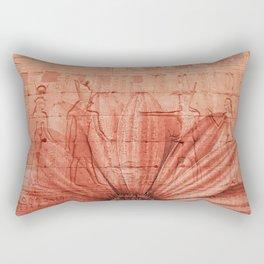 egypt pattern flower red Rectangular Pillow