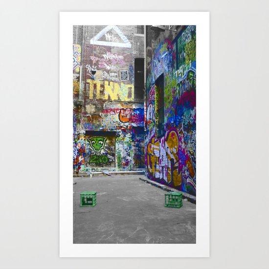 Melbourne Graffiti Art Print