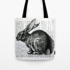 French Rabbit Tote Bag