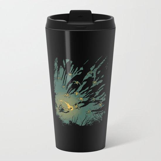 Zombie Shadows Metal Travel Mug