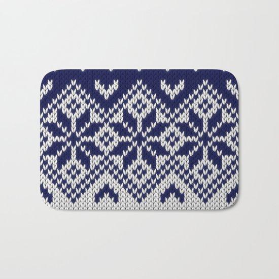 Winter knitted pattern 9 Bath Mat
