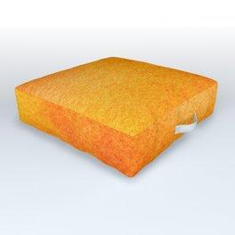 Bright Bold Orange Yellow Watercolor Painting Wash Haze Outdoor Floor Cushion