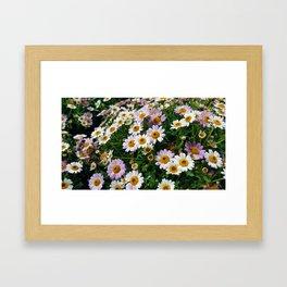 Little White Flowers Framed Art Print