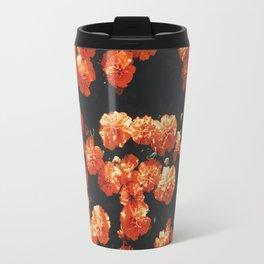 Orange flower fleurs Travel Mug