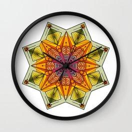 octagonal flowers Wall Clock