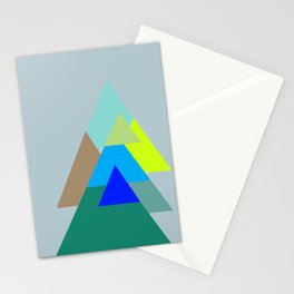 Triangles - mud color scheme  Stationery Cards