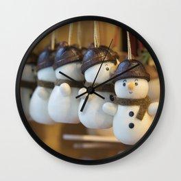 Ickle Snowmen Wall Clock
