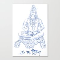 shiva Canvas Prints featuring SHIVA by Psychedelic Bugs - Besouro Independente