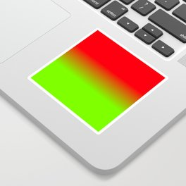 Neon Red and Neon Green Ombré  Shade Color Fade Sticker
