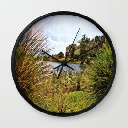 Nature - Sunset Lagoon Wall Clock
