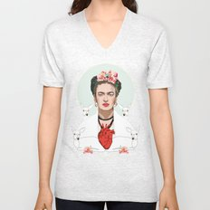 Frida Kahlo (Light) Unisex V-Neck